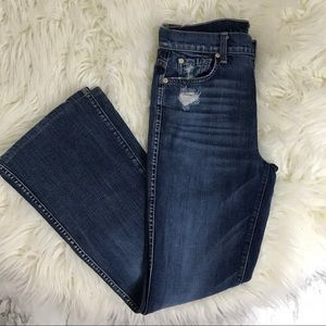 7FMK High Waist Vintage Bootcut Button Fly Jeans